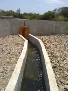 Bocatoma principal de Canal San Pedro en Las Lomas
