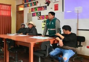 Reunión de coordinación con el director zonal de Ayacucho de AGRORURAL